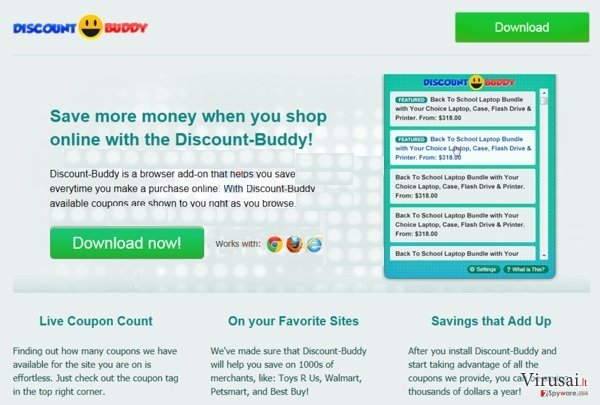 Discount Buddy ekrano nuotrauka