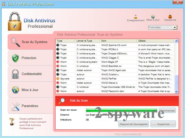 Disk Antivirus Professional ekrano nuotrauka