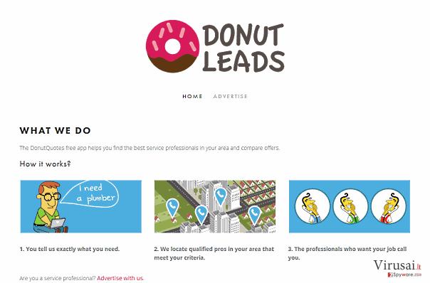 DonutQuotes reklamos ekrano nuotrauka