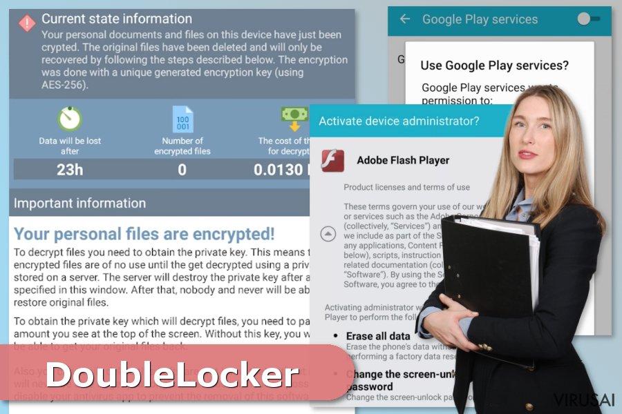 DoubleLocker viruso ataka