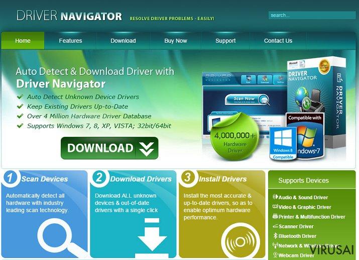 Driver Navigator ekrano nuotrauka