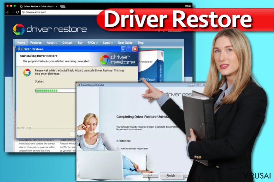 Driver Restore ekrano nuotrauka