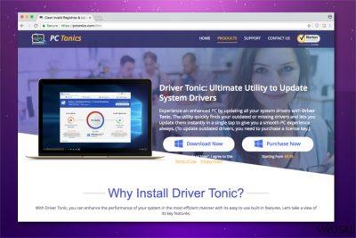 Driver Tonic virusas