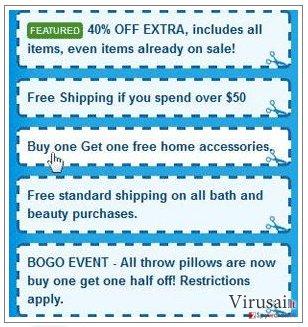 SaveNShop reklamos ekrano nuotrauka