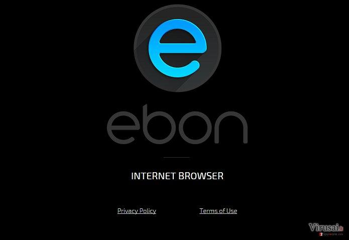 Ebon naršyklės virusas ekrano nuotrauka