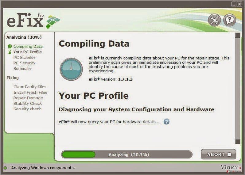 eFix Pro ekrano nuotrauka
