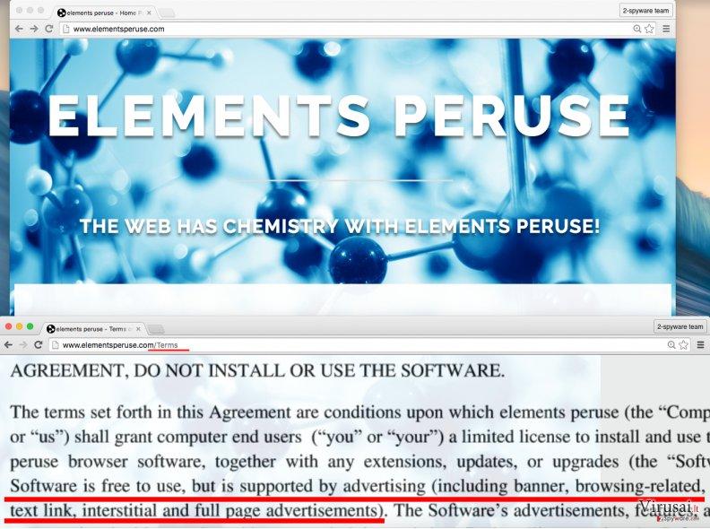 Elements Peruse virus