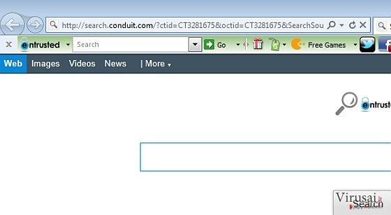 Entrusted Toolbar ekrano nuotrauka
