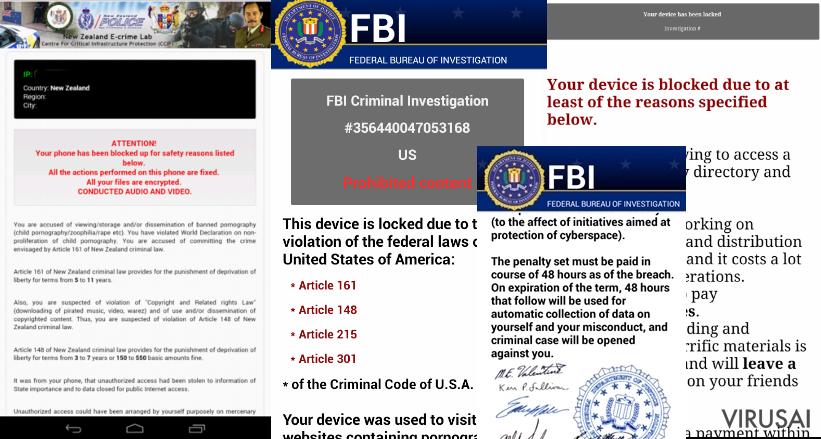 Android viruso paveiksliukas