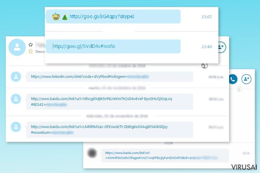 Skype virusas ekrano nuotrauka
