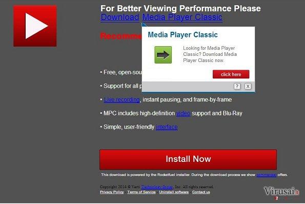 UpdatesJava.com virusas ekrano nuotrauka