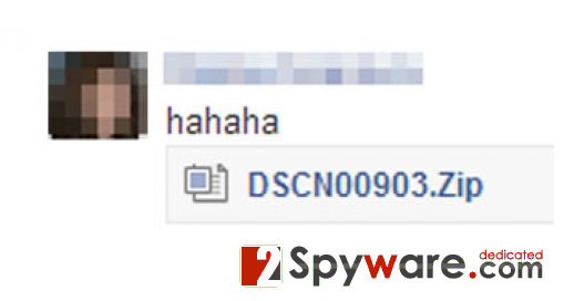 "Facebook ""hahaha"" virusas ekrano nuotrauka"