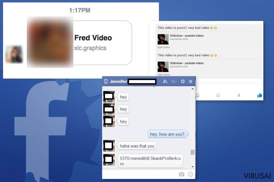 """""""Facebook Message"""" viruso pavyzdžiai"""