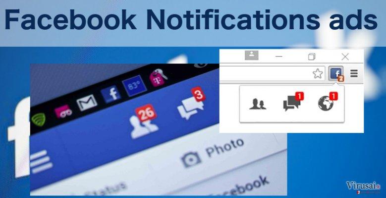 An illustration of the Facebook Notifications virus