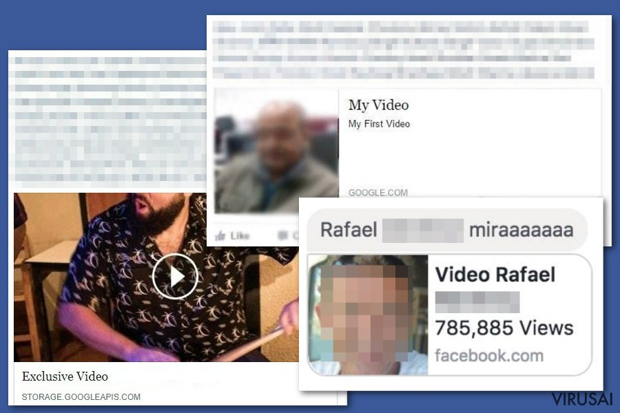 Facebook video virusas ekrano nuotrauka