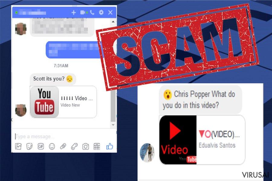 Facebook Message virusas ekrano nuotrauka