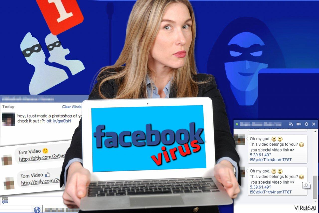 Facebook virusas ekrano nuotrauka