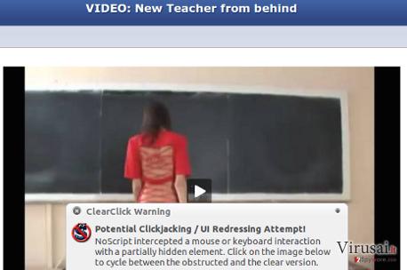 Facebook Child Porn virus ekrano nuotrauka