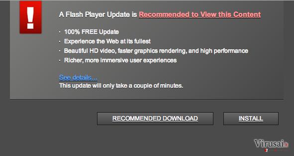 Trustedupdate.com virusas ekrano nuotrauka