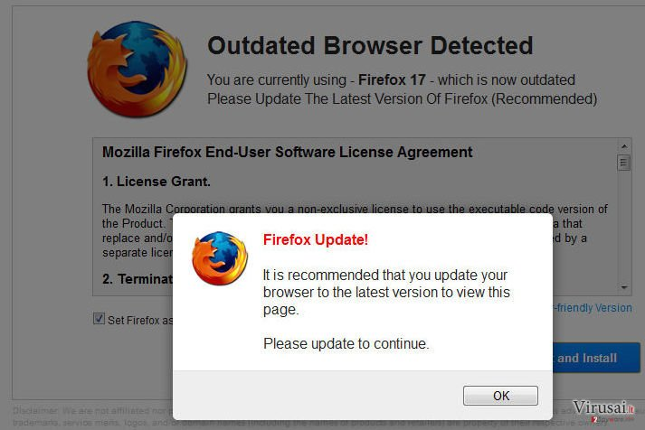 WARNING: Your Current Browser Is Outdated! ekrano nuotrauka