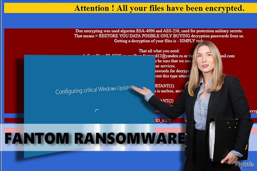 Fantom virusas ekrano nuotrauka