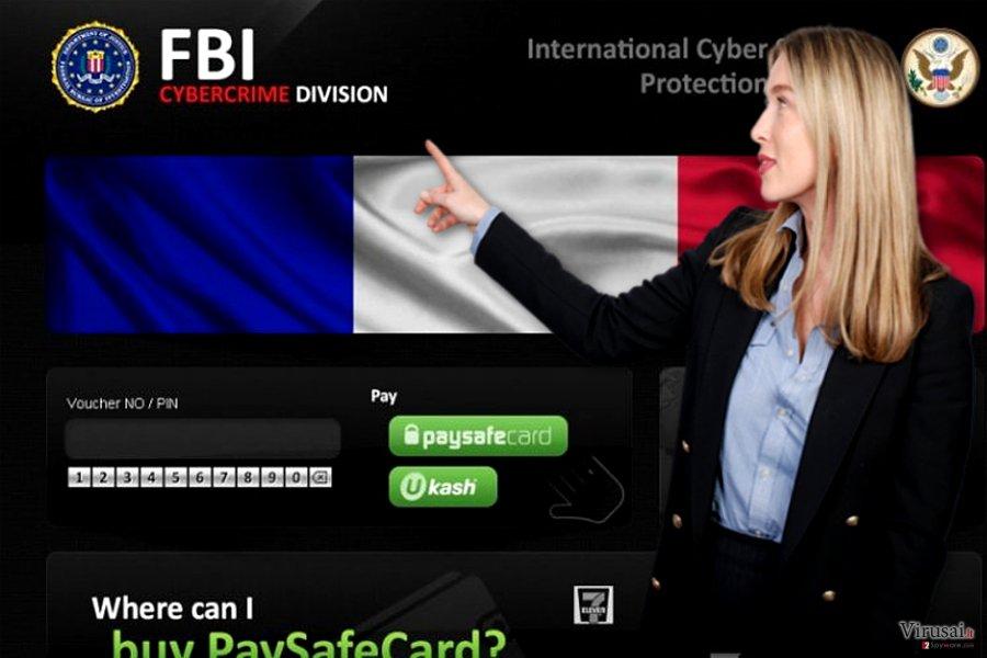 Kibernetiniai sukčiai mėgina išgąsdinti kompiuterių vartotojus apsimesdami FTB elektroninių nusikaltimų skyriaus (angl. FBI Cybercrime Division) specialistais.