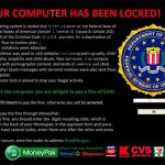 FBI Virus Black Screen ekrano nuotrauka