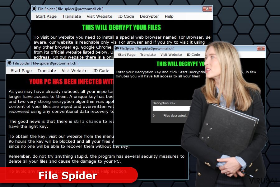 File Spider virusas