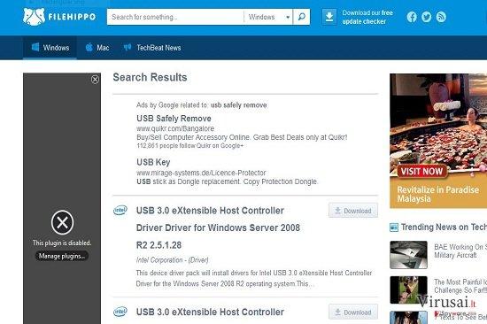 FileHippo ekrano nuotrauka