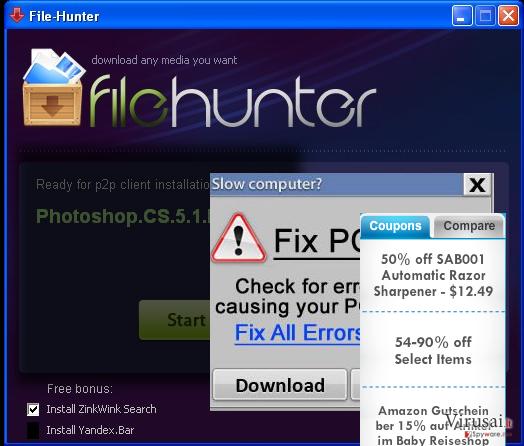 FileHunter ekrano nuotrauka