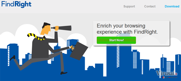 FindRight virusas ekrano nuotrauka