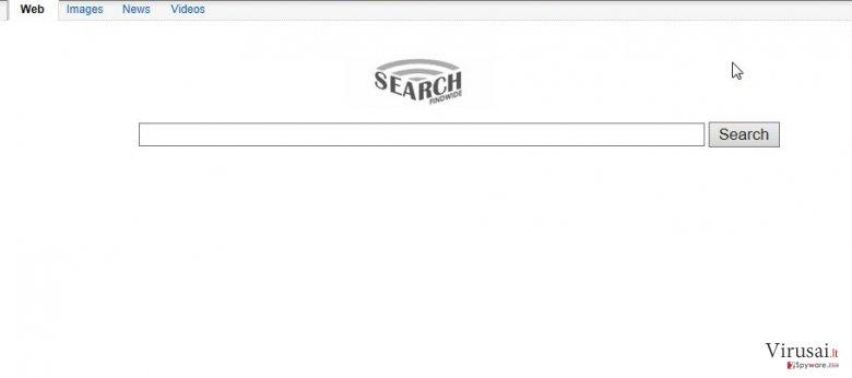 Findwide ekrano nuotrauka