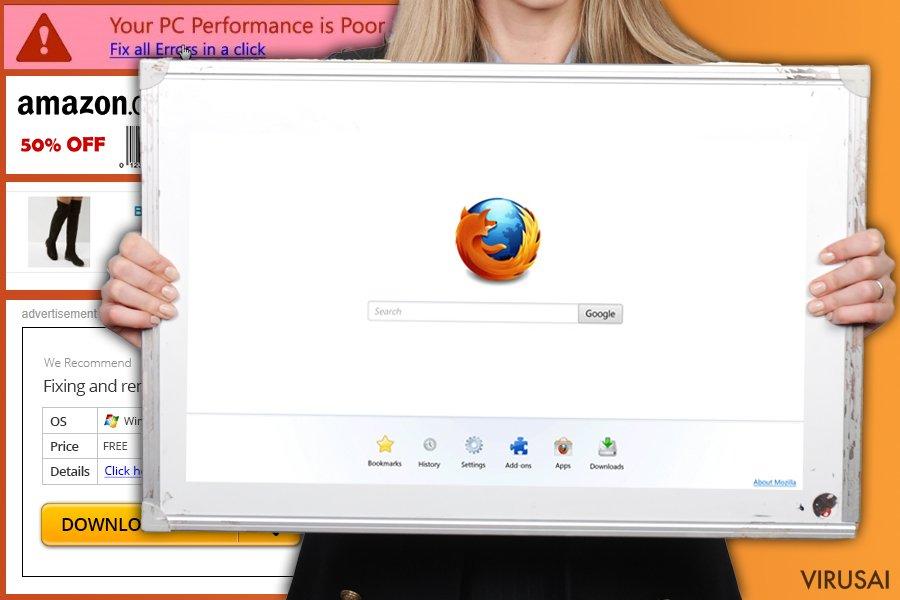 Firefox peradresavimo virusas