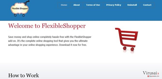 FlexibleShopper pranešimai ekrano nuotrauka