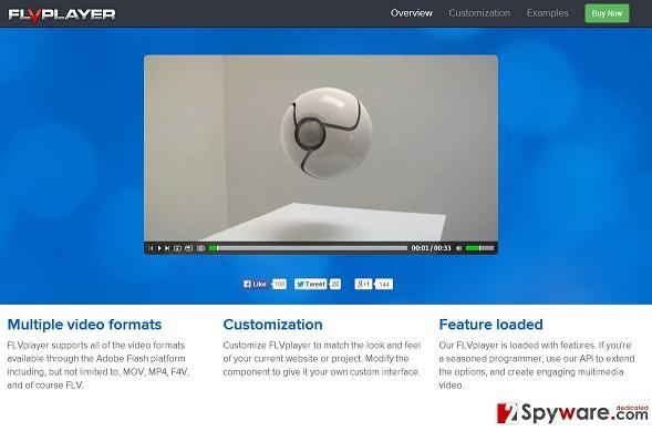 FLV Player ekrano nuotrauka