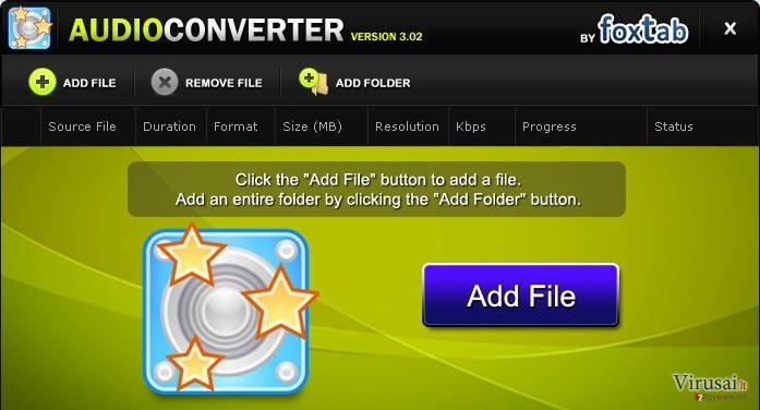 FoxTab Audio Converter ekrano nuotrauka