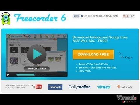Freecorder ekrano nuotrauka