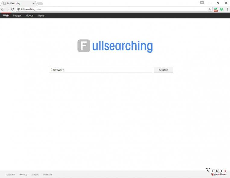FullSearching.com paieškos sistemos pavyzdys