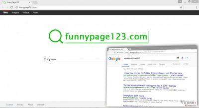 Funnypage123.com viruso pavyzdys