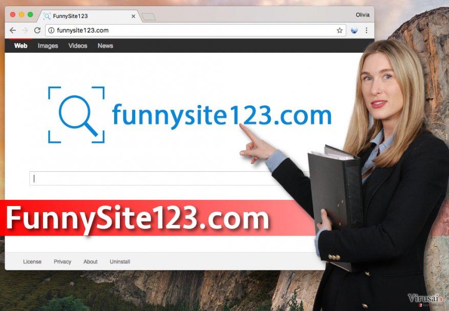 FunnySite123.com virusas