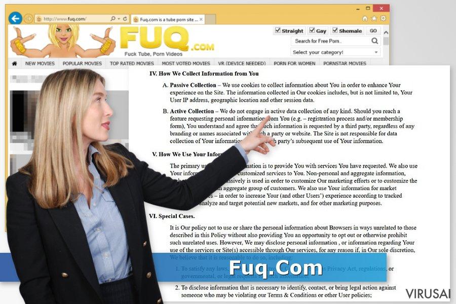Fuq.Com virusas ekrano nuotrauka