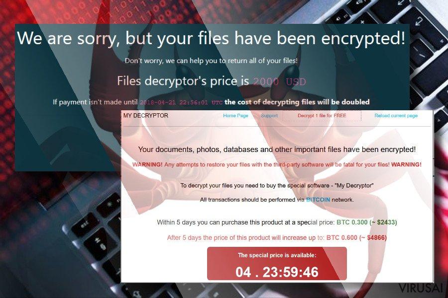 GandCrab virusas ekrano nuotrauka