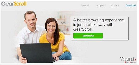 GearScroll virusas ekrano nuotrauka