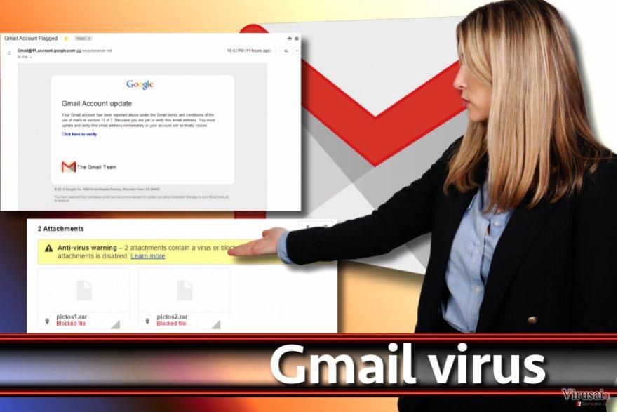Gmail viruso pavyzdžiai