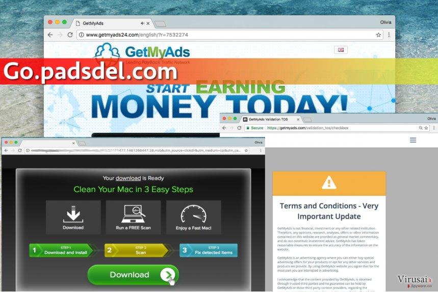 Go.Padsdel.com virusas