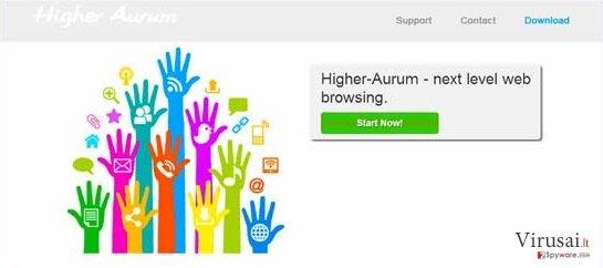 Higher Aurum ekrano nuotrauka