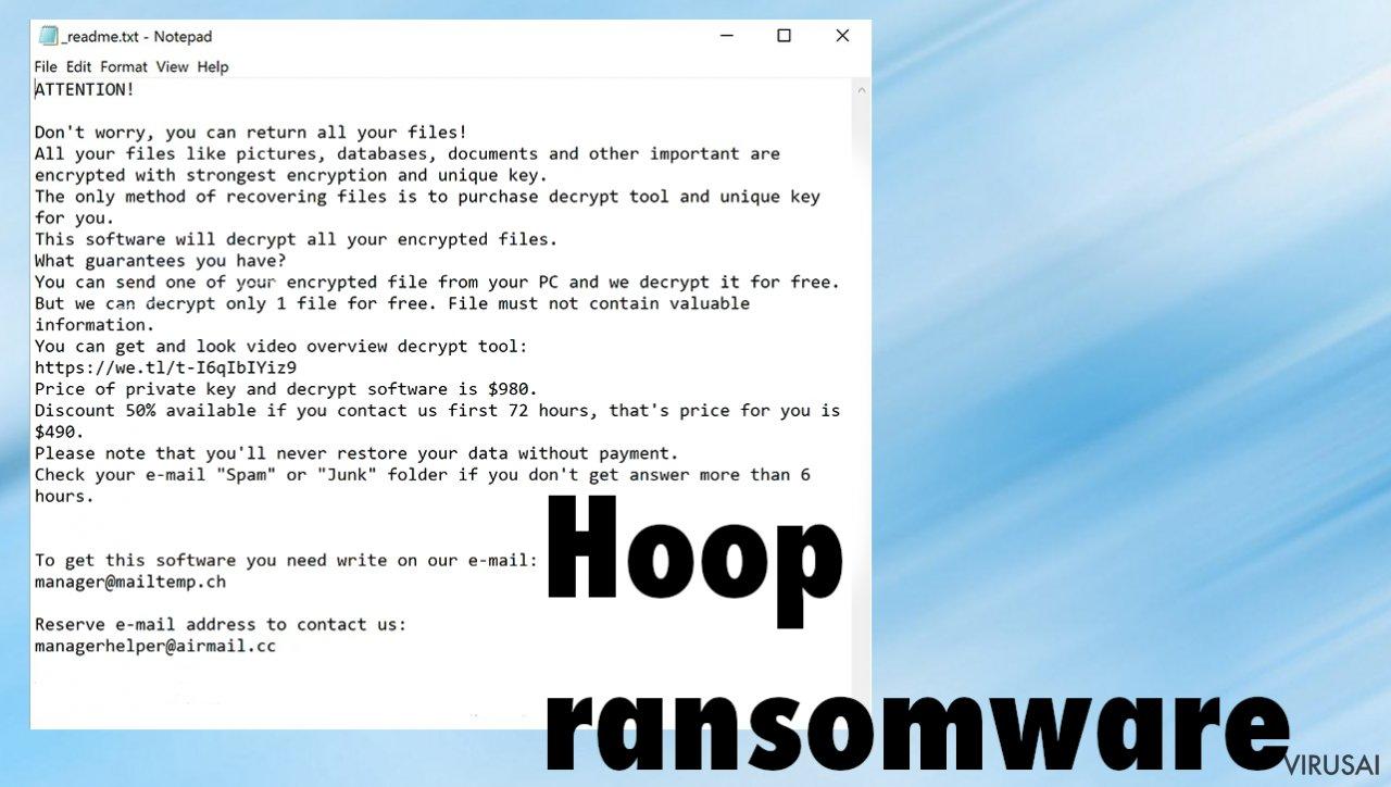 Hoop ransomware virusas