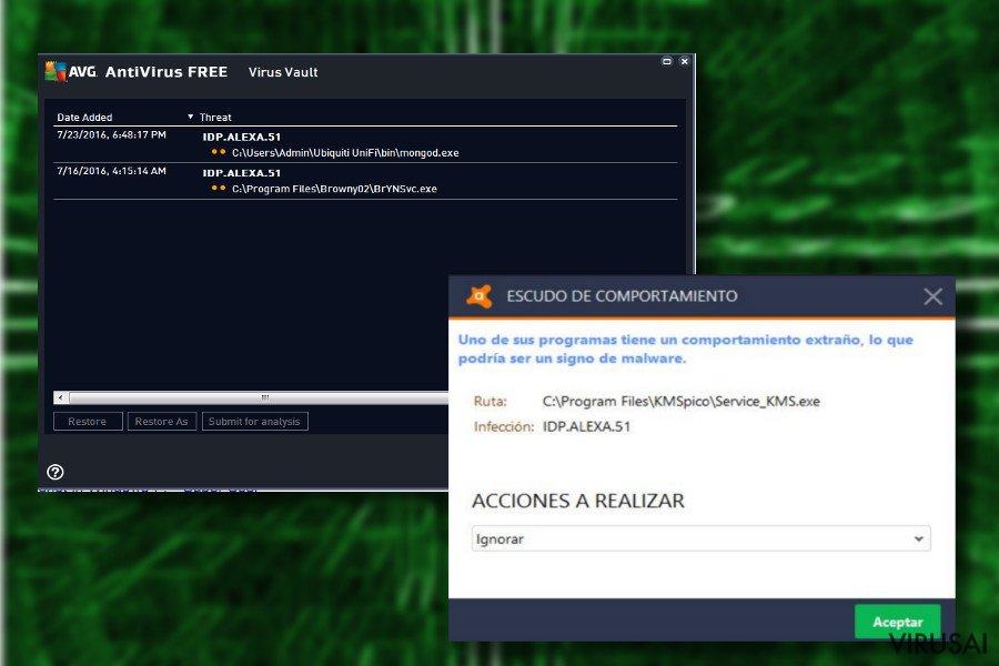 idp.alexa.51 viruso paveiksliukas