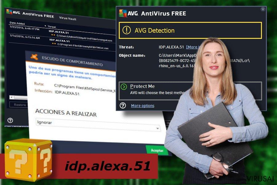 idp.alexa.51 viruso iliustracija
