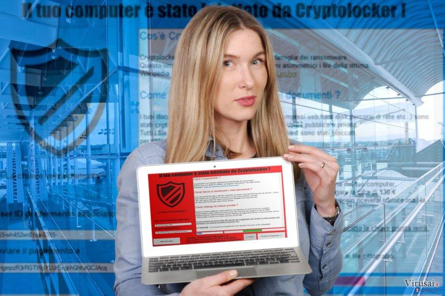 Il tuo computer e stato infettato da Cryptolocker! virusas